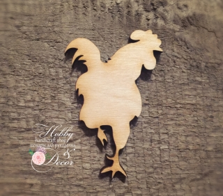 Rooster - a symbol of 2017, plywood